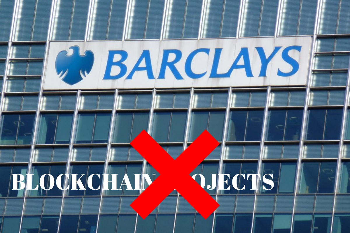 Barclays Shutdown All Crypto related projects
