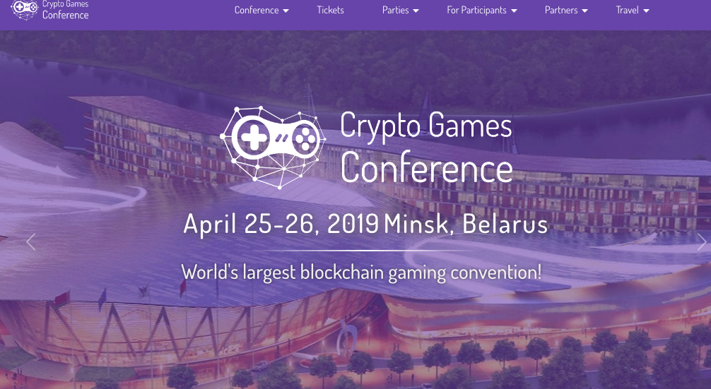 Crypto Games Conference & Showcase 2019