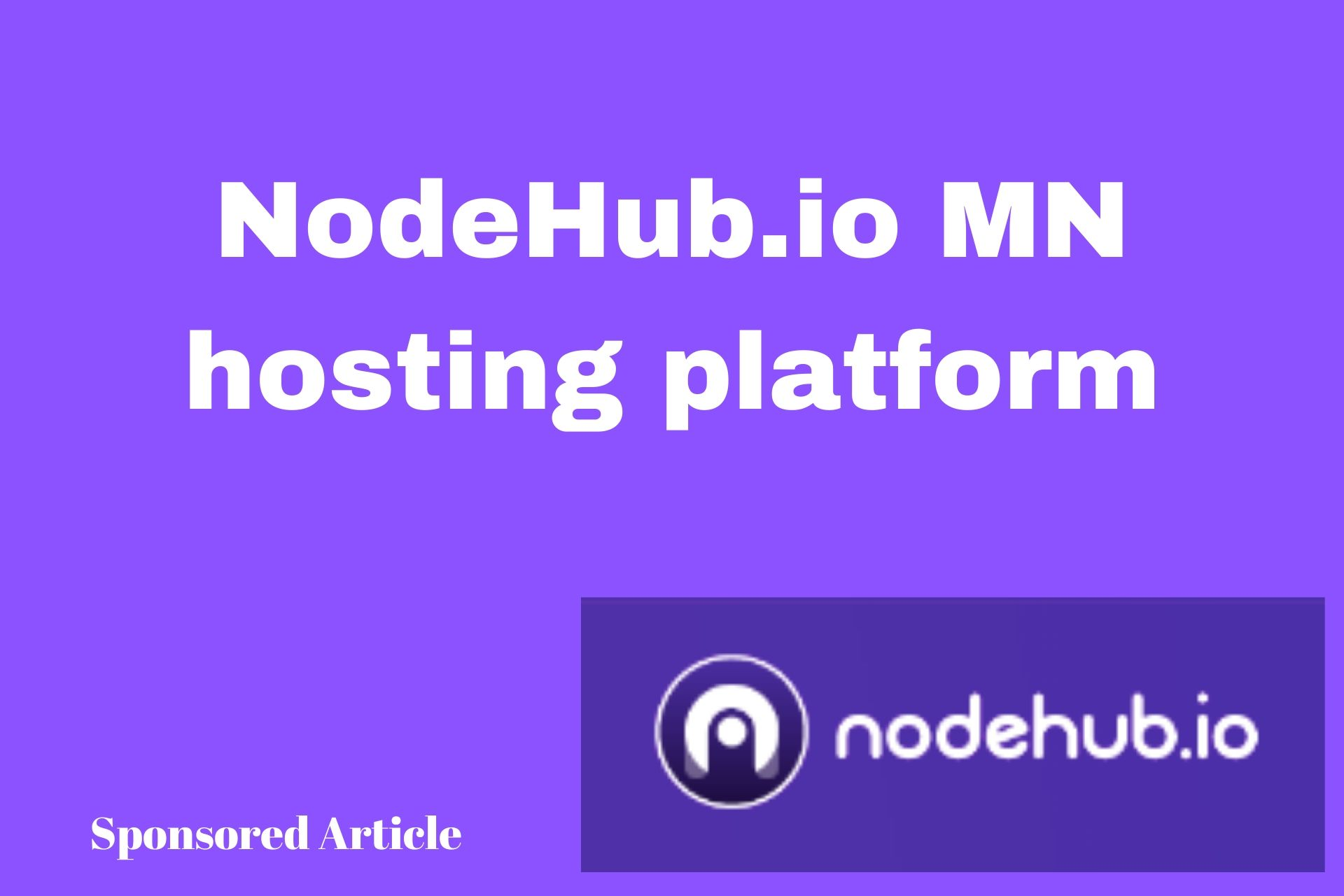NodeHub.io Will Take the Stress of Hosting a Masternode Off Your Back