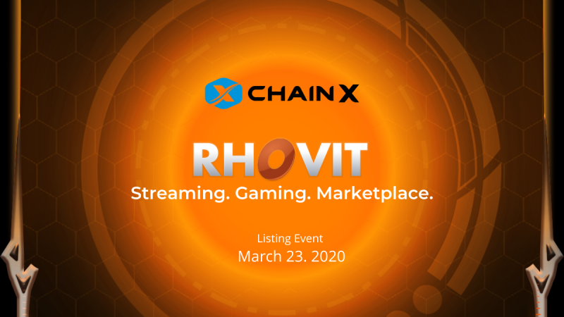 Announcing Rhovit and ChainX Listing Event