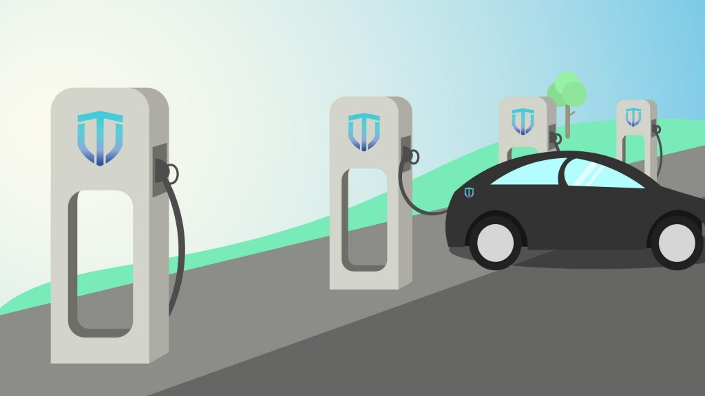 The power coin image electric car charging station