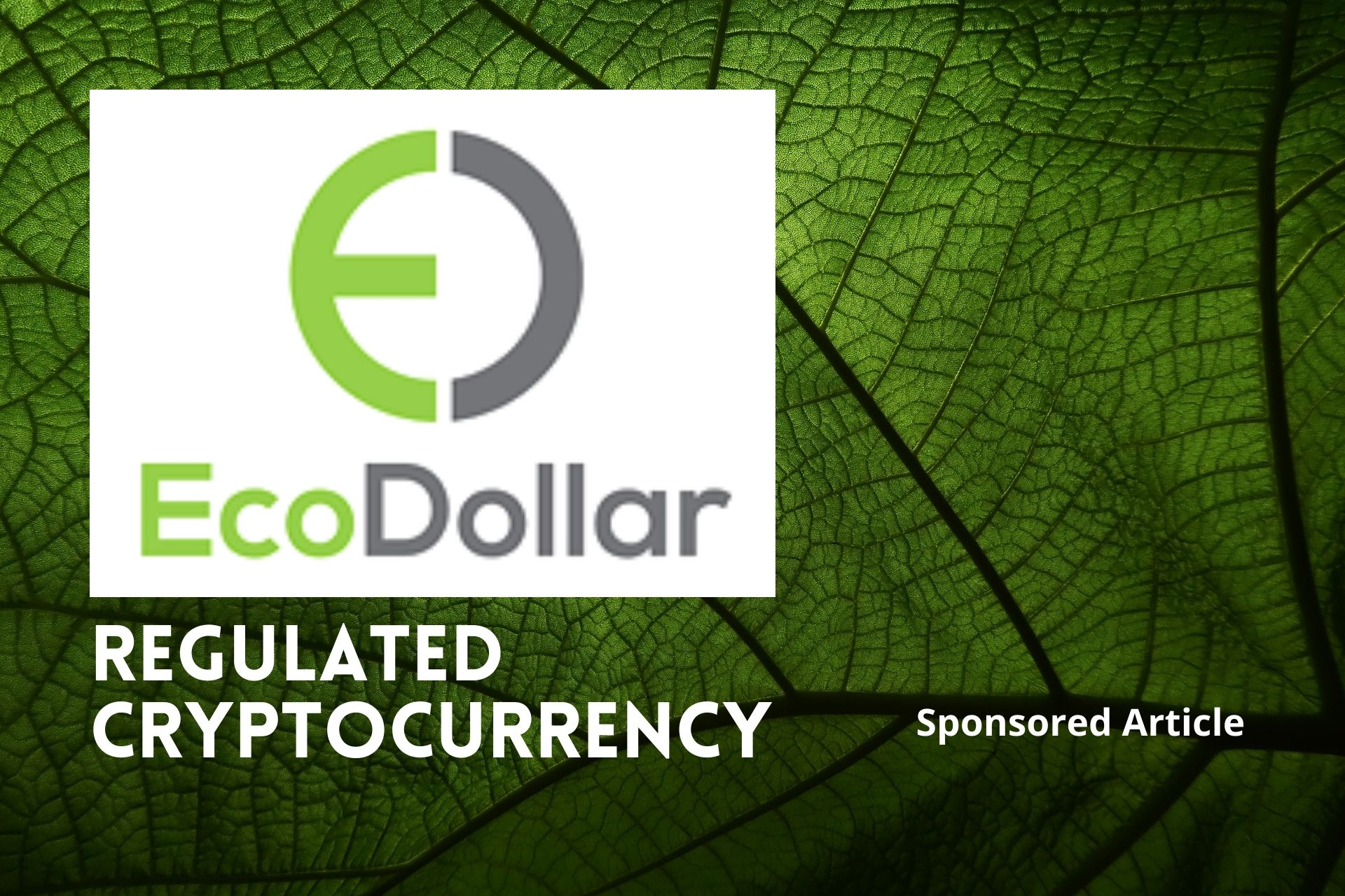 EcoDollar: A Decentralized Cryptocurrency Supporting Green Planet Initiative