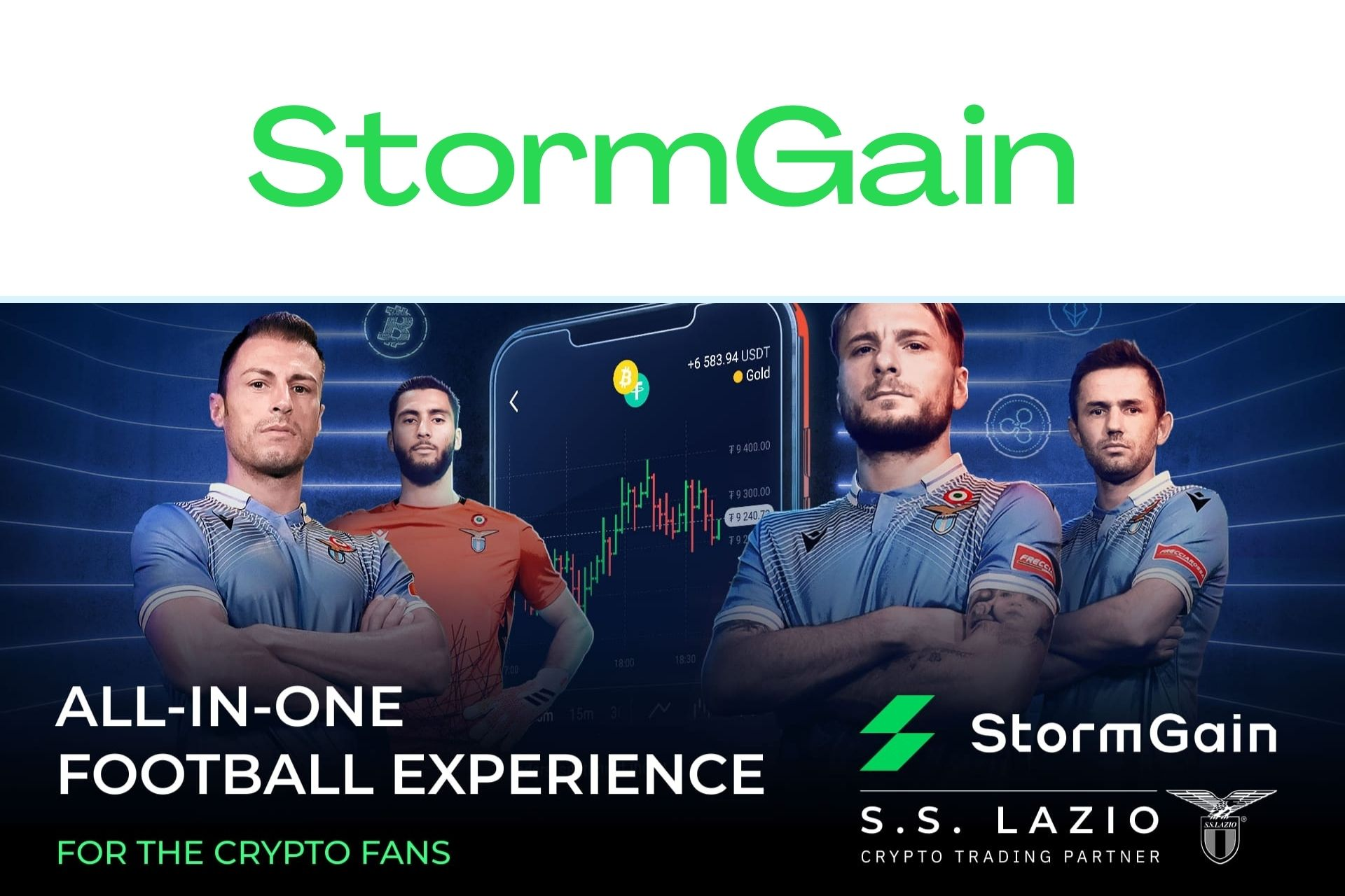 StormGain Signs Long-Term Partnership with Serie A's SS Lazio